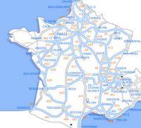 franciaország autó térkép